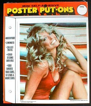 Farrah Fawcett Poster Put-On 1977 Sealed near MINT