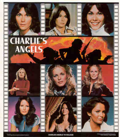 CHARLIE'S ANGELS 1978 Collage Poster Put-On Sticker
