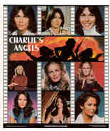 CHARLIE'S ANGELS 1978 Collage Poster Put-On Sticker - $5.98