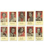 MOVIE & RECORDING STARS 10 OLD WEIGHT & FORTUNE CARD - $14.98