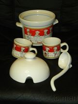Campbell's Soup covered tureen ladle and 2 mugs 2001 - $20.00
