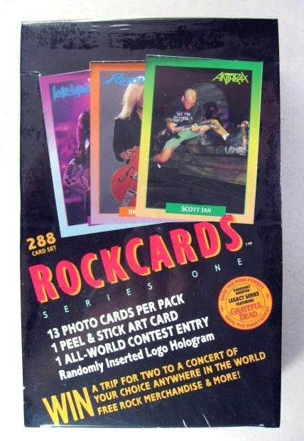 ROCKCARDS ROCK CARDS SEALED BOX 288 CARDS 36 PACKS 1991