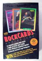 ROCKCARDS ROCK CARDS SEALED BOX 288 CARDS 36 PACKS 1991 - $24.98