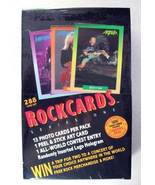 ROCKCARDS ROCK CARDS SEALED BOX 288 CARDS 36 PACKS 1991 - $49.98