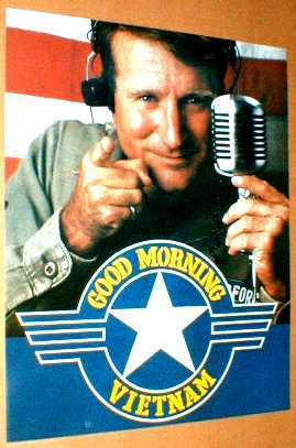 GOOD MORNING VIETNAM 1987 Poster near MINT