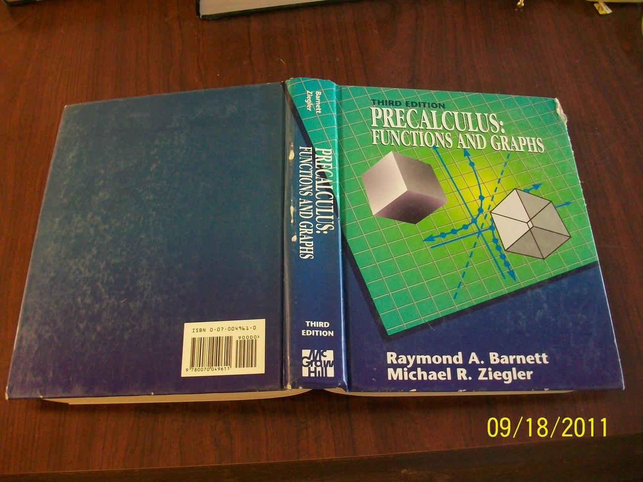 Precalculus: Functions and Graphs by Barnett & Ziegler, 1993