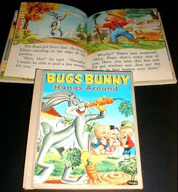 BUGS BUNNY HANGS AROUND Tell-A-Tale Library Bound 1957