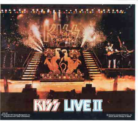 KISS LIVE 2 1977 Poster Put-On Sticker near MINT