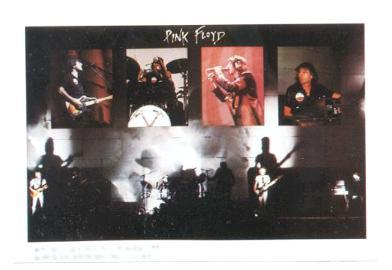 Primary image for PINK FLOYD 1979 Mini-Poster Photo Sticker near MINT
