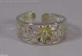 Silver Plated Flower Toe Ring - $9.99