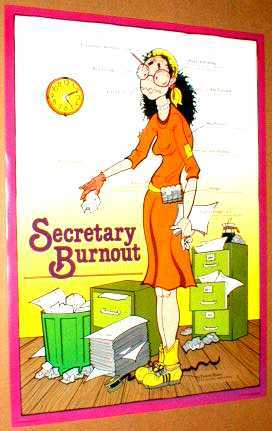 SECRETARY BURNOUT 1981 Poster near MINT