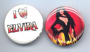 Primary image for ELVIRA Pinback Buttons 2 Different near MINT