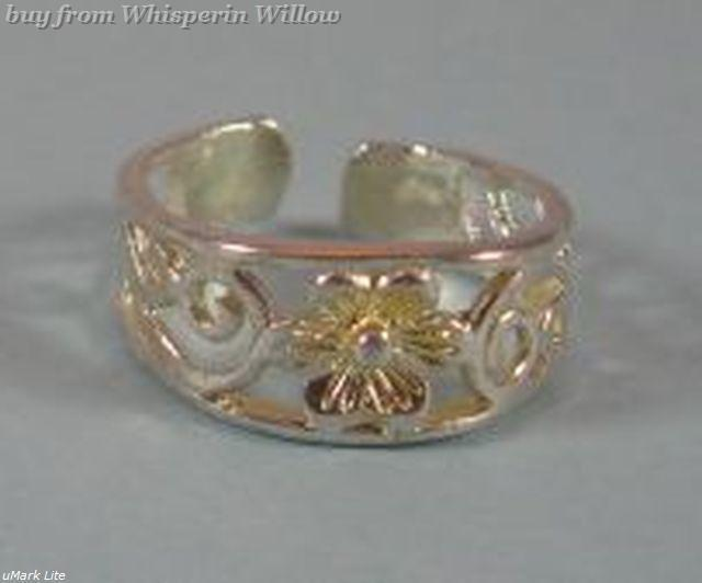 Silver Plated Flower Toe Ring