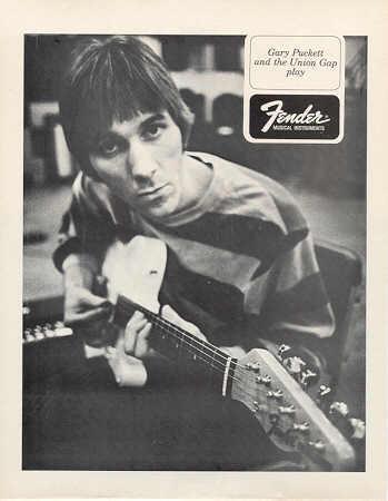 FENDER GUITAR GARY PUCKETT ORIGINAL 1968 PROMO PHOTO
