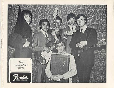 Primary image for FENDER GUITAR and The ASSOCIATION ORIG 1968 PROMO PHOTO
