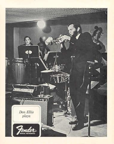 FENDER and DON ELLIS ORIGINAL 1968 PROMO PHOTO