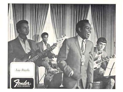 FENDER GUITAR and LOU RAWLS ORIGINAL 1968 PROMO PHOTO