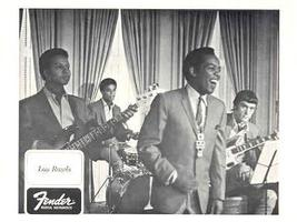 FENDER GUITAR and LOU RAWLS ORIGINAL 1968 PROMO PHOTO - $9.98