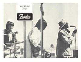 FENDER GUITAR and TAJ MAHAL ORIGINAL 1968 PROMO PHOTO - $9.98