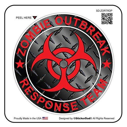 "Primary image for StickerDad ZOMBIE OUTBREAK RESPONSE TEAM Full Color Printed Sticker - size: 4"","