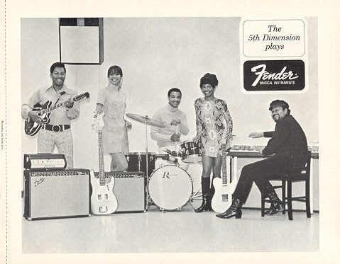 FENDER GUITAR and The 5th DIMENSION 1968 PROMO PHOTO