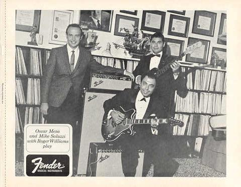 Primary image for FENDER GUITAR with ROGER WILLIAMS etc. 1968 PROMO PHOTO