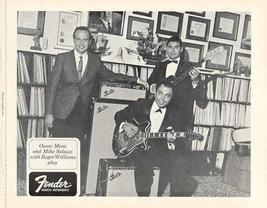 FENDER GUITAR with ROGER WILLIAMS etc. 1968 PROMO PHOTO - $8.98