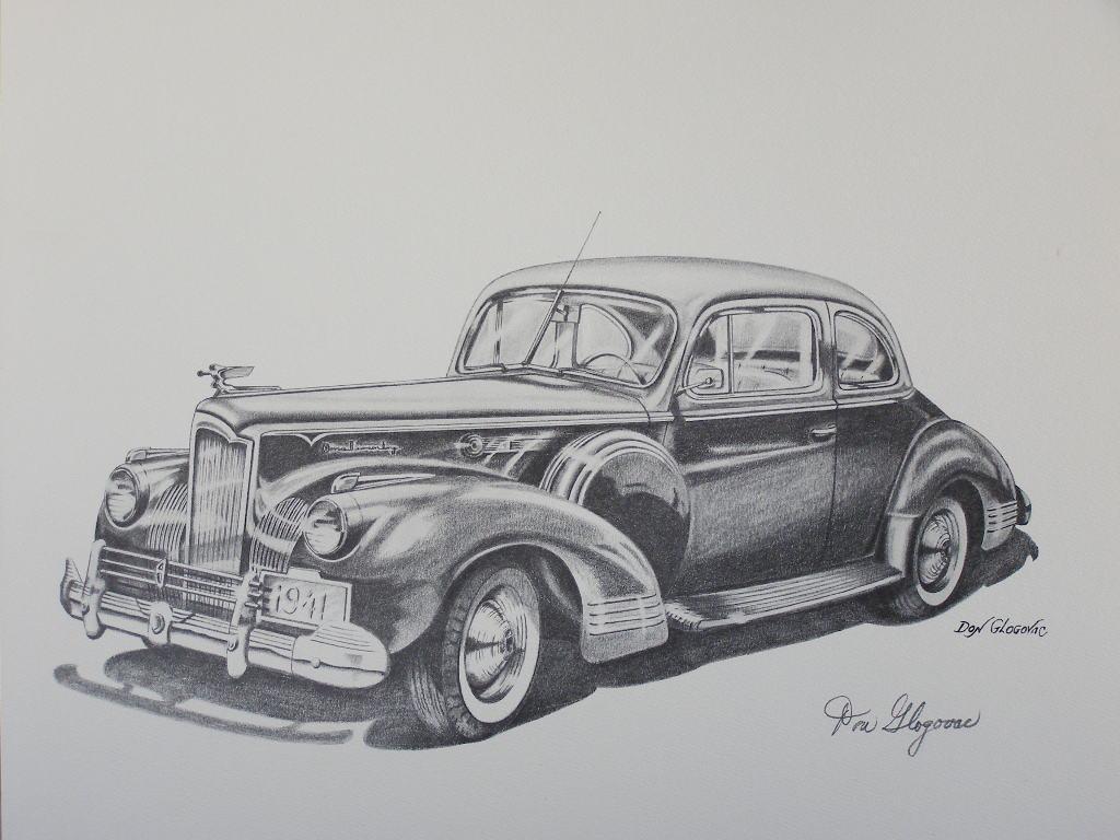 1941 Packard Art Print by Don Glogovac - (SKU#1713)