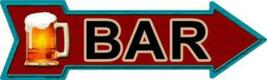 "Bar Novelty Metal Arrow Sign 17"" x 5"" Wall Decor - DS - $21.95"