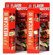 2 Packs McCormick 2.4 Oz Flavor Makers Recipe Series Mexican Cumin Chili... - $17.99