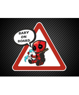 Baby on Board Super hero Marvel Deadpool Child Window Bumper Car sticker - $5.50