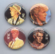 DAVID BOWIE 1984 Pinback Buttons 4 Different - $9.98