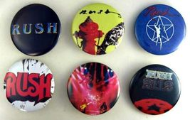 RUSH 1980s Pinback Buttons 6 Different - $16.98