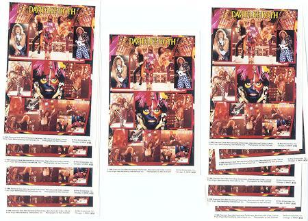 10 DAVID LEE ROTH 1986 MINI-POSTERS