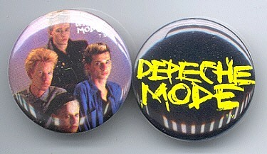 Primary image for DEPECHE MODE Pinback Buttons Pins Badges 2 Different