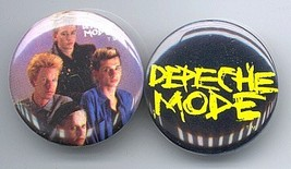 DEPECHE MODE Pinback Buttons Pins Badges 2 Different - $9.98