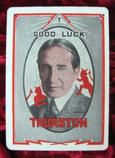Primary image for THURSTON Magic Throw Out Card 1930's