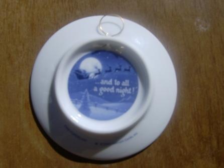 Visit From St. Nicholas Hallmark 2000 Plate Ornament Blue