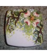 Ceramic Button Cover  Dogwood branch - $6.00