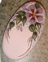Oval lavender sand painted pendant thumb200