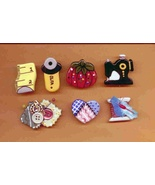 Ceramic Button Covers Sewing Handcrafted Handpainted - $21.00