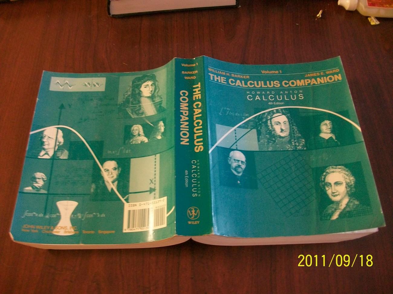Calculus companion volume 1 to accompany calculus, howard an