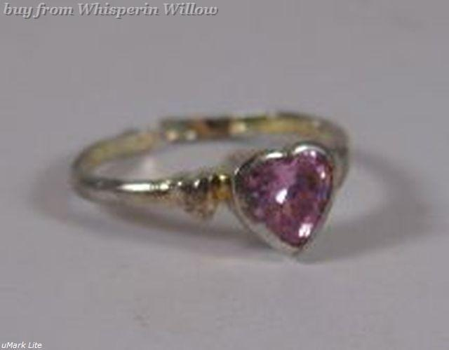 Silver Plated Pink Crystal Heart Toe Ring