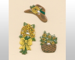 3 pc. yellow flower  bonnett   basket thumb155 crop