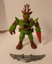 Vintage Hasbro Battle Beasts # 2 DEER STALKER  with Weapon, Problem w/Rub - $29.03