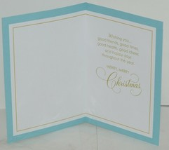 Hallmark XV 601 1 White Gold Snowflakes Christmas Card Package 2 image 2
