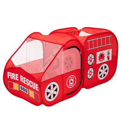 Fire Truck Tent for Kids, Toddlers, Boys & Girls – Red Fire Engine Pop Up Preten