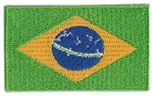 Brazil Embroidered Patch - 2 1/4 x 1 1/4 ""