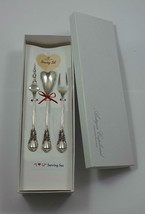 """American Victorian by Lunt Sterling Silver """"I Love You"""" Serving Set 3pc Custom - $185.25"""