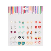 LUXSHINE 20 Pairs/lot Lovely Stud Earring Set for Girls Roller Skates Ow... - $9.41